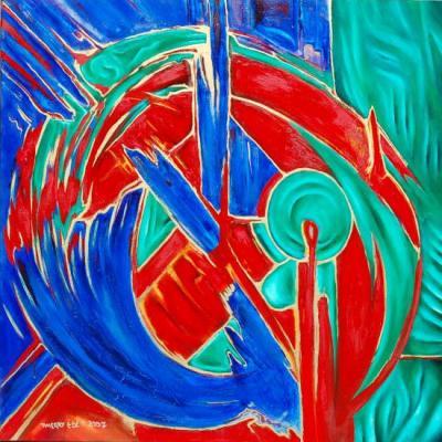 Abstrait 80x80 : Enfermé