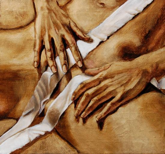 Artefact d'une ostension 1 : mains et bandelette 5